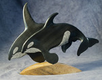 Native Baleen Orca Carving